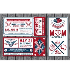 baseball labels vector image