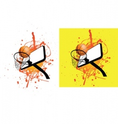 basketball hoop splat vector image