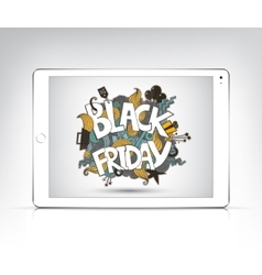 Black friday banner showing in the screen vector