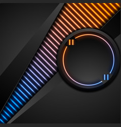 Black tech corporate abstract background with vector