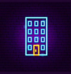 building neon sign vector image