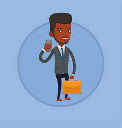 businessman making selfie vector image