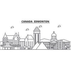 Canada edmonton architecture line skyline vector