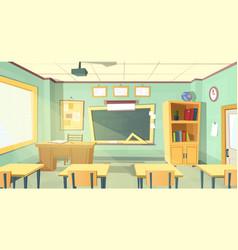 Cartoon of school classroom vector