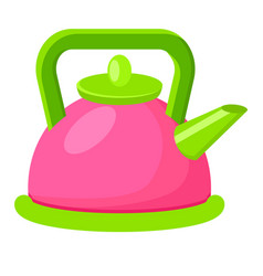 cartoon style colorful kettle vector image