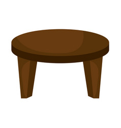 center table isolated icon vector image