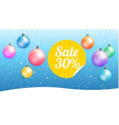 christmas sale web banner vector image