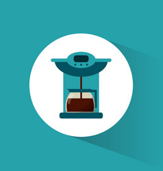 Coffee maker glass pot image vector