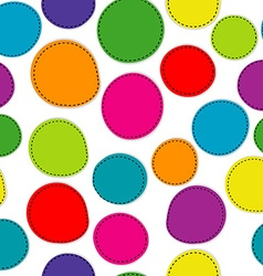 Colorful seamless pattern with round shapes vector image