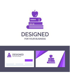creative business card and logo template book pen vector image