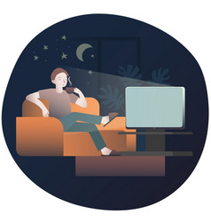 daily evening program before bed vector image
