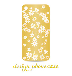 design phone case are floral decorated vector image