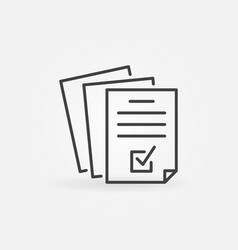 documents or business report outline icon vector image
