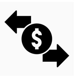 Dollar transaction icon vector