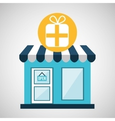ecommerce store buy gift icon vector image