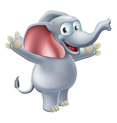 elephant waving vector image