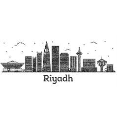 Engraved riyadh saudi arabia city skyline with vector