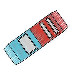 Eraser school utensil vector