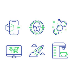 Face detect web tutorials and chemical formula vector