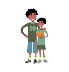 Father and kid together character vector