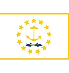 Flag of Rhode Island correct size colors vector image