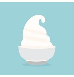 Frozen yogurt in the cup design template vector