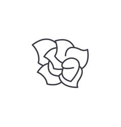 gardenia line icon concept gardenia flat vector image