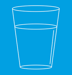 Glass water icon outline style vector