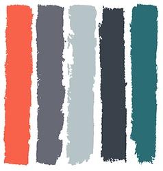 Grunge paint roller strokes brush strokes vector