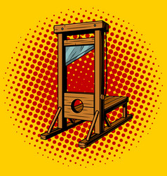 Guillotine pop art vector