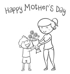 Happy mother day hand draw vector