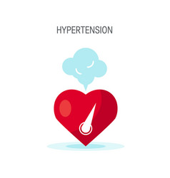 high blood pressure concept in flat style vector image