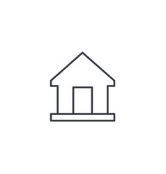 home house thin line icon linear symbol vector image