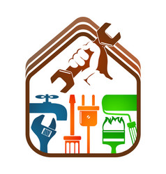 Home repairs with tools vector