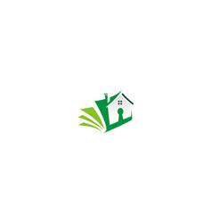 Home secure book logo vector