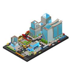 Isometric modern cityscape concept vector