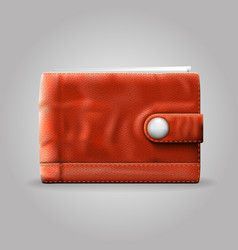 Leather purse vector