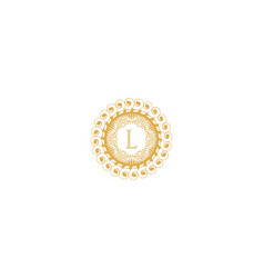 Letter l initial logo for wedding boutique luxury vector