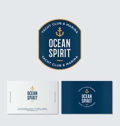 Logo yacht club ocean spirit emblem vector