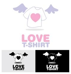 Love T-shirt vector image