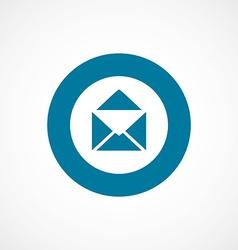 Mail bold blue border circle icon vector