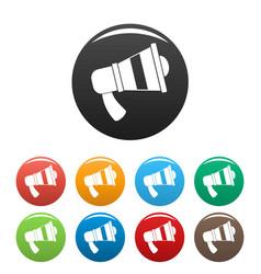 megaphone icons set color vector image