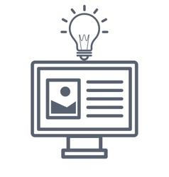 Monitor desktop computer icon vector