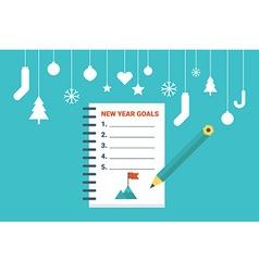 New year goals vector