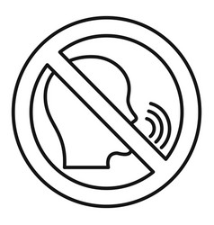 No speaking icon outline style vector
