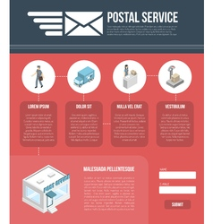 Post Page Website Design Template vector