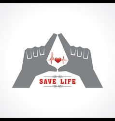 Save life concept vector
