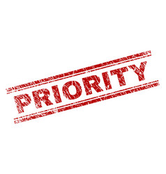 Scratched textured priority stamp seal vector