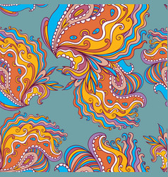 seamless hand - drawn pattern vector image