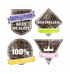 set of retro vintage grunge labels vector image